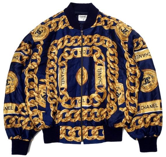 Vintage Chanel Bomber Silk Jacket