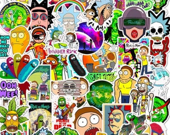 Rick /& Morty Sticker Pack Includes 5 Stickers