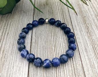 Sodalite Bracelet - Gift For Mom Bracelets For Women Protection Bracelet Gift For Her Boho Bracelet