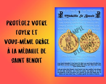 Protective pentacle, pentacle of the julio abbe, number 3 Medal of Saint Benoit - against all attacks of evil spirits