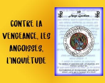 Protective pentacle, pentacle of the julio abbe, number 20 - Guardian angel; against revenge, anxieties, worries