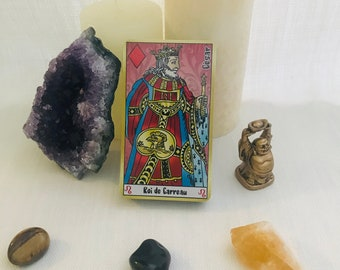 Cartomancy game - Divination - Clairvoyance cards with astrological sign - 12 zodiac signs - 10 planets - tarot of marseille