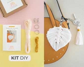 mini-Kit 2 in 1 - diY macramé keychains * 10 colors / beginner, bag accessories, gift, handmade, tutorial