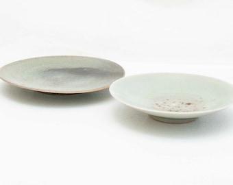 Snack plates of 14 cm / plates / tapas plates / handmade ceramics / ceramic tableware / porcelain / real Seladon/ Hand-turned