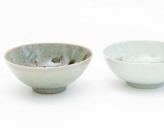 Snack bowls of 10-12 cm / bowls / bowls / handmade ceramics / ceramic tableware / porcelain / real Seladon/ Hand-turned