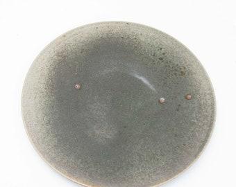 Serving plate // Pizza plate Ø 34 cm // Handmade ceramics // Ceramic tableware // Porcelain // Seladon// Hand turned // Plate // Plate