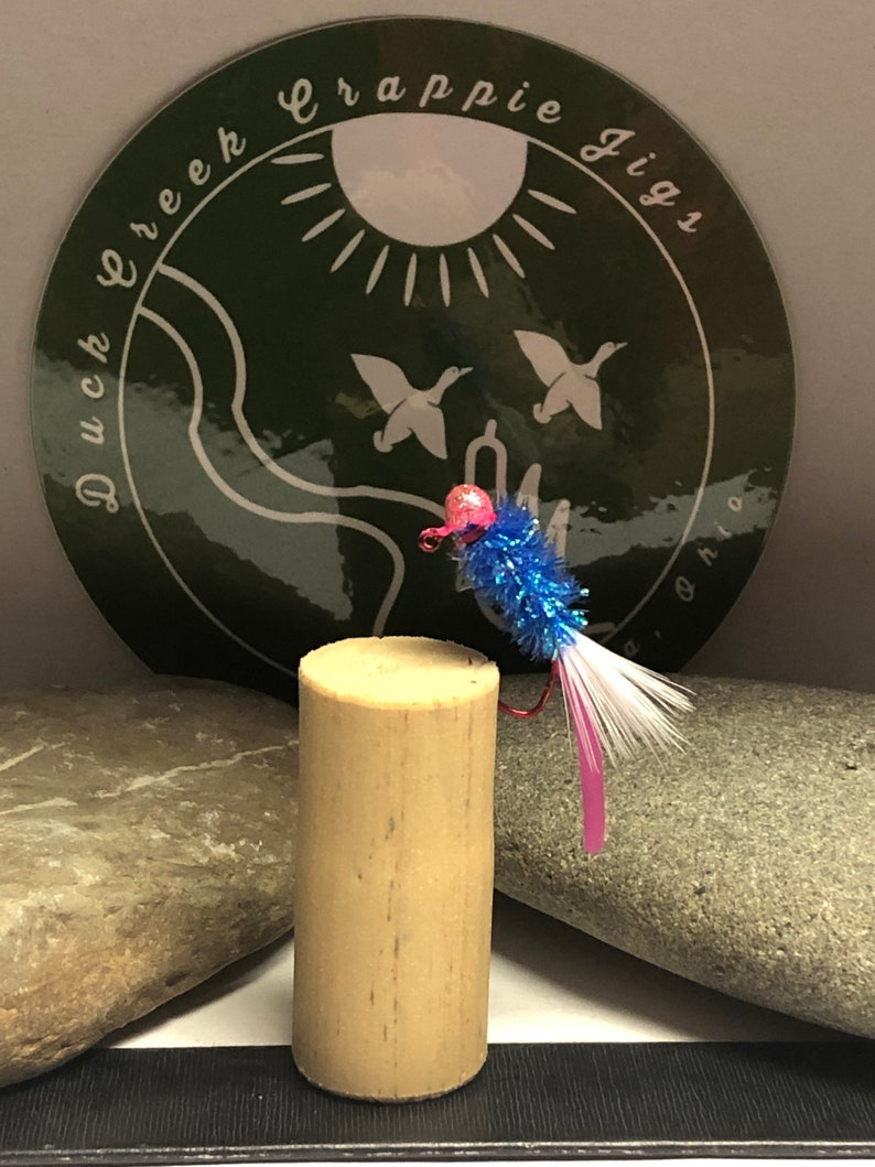 132oz Hand Tied Squirmy Wormy tail Crappie Jigs