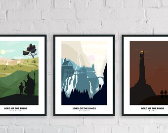 Lord of the ring - minimalist posters