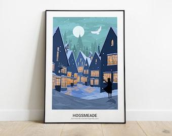 Hogsmeade - minimalist poster