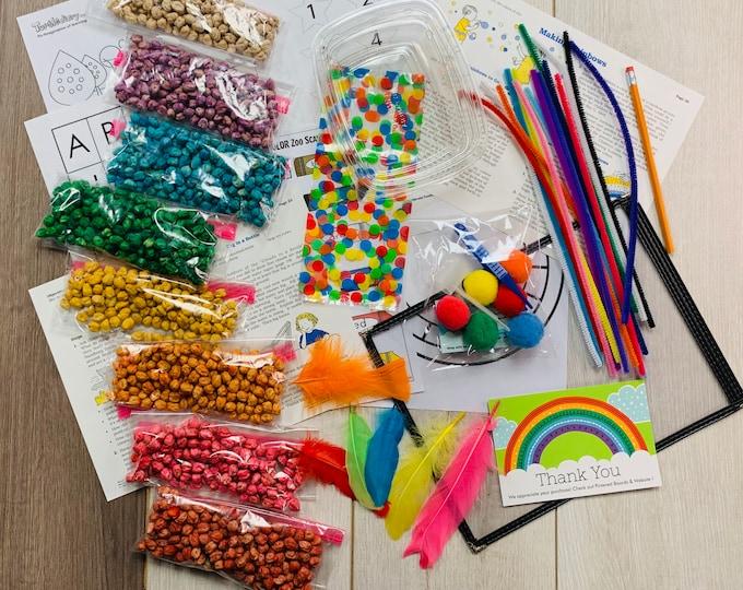 Rainbow Chickapea's Sensory Play in a Bag & Kit / Educational Sensory Play / Montessori
