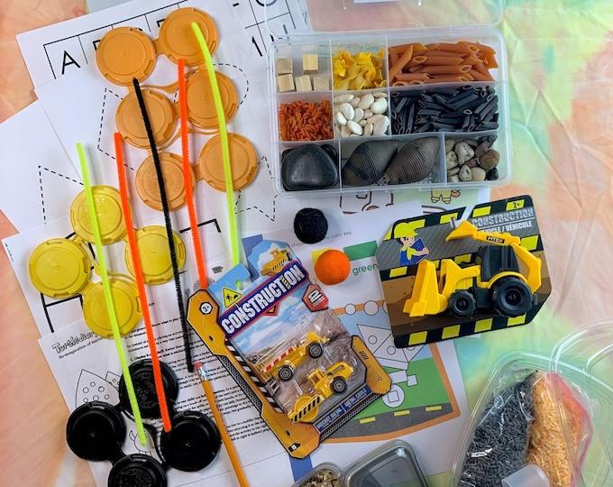 Front/Backhoe Loader Construction Sensory Play in a Bag