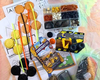 Front Loader Construction Sensory Play in a Bag
