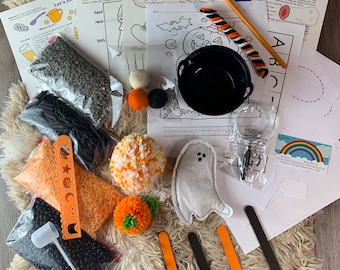 Ghosts & Witches Brew 2 Sensory Play in a Bag / Montessori/ Sensory Play