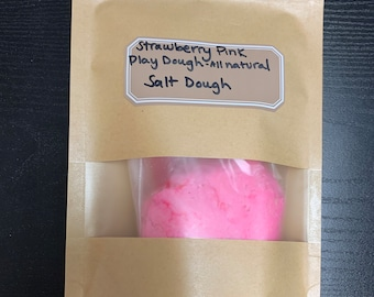 Strawberry Pink All Natural Salt Play Dough
