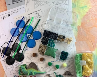 Dimetrodonte Dinosaur Sensory Play in a Bag