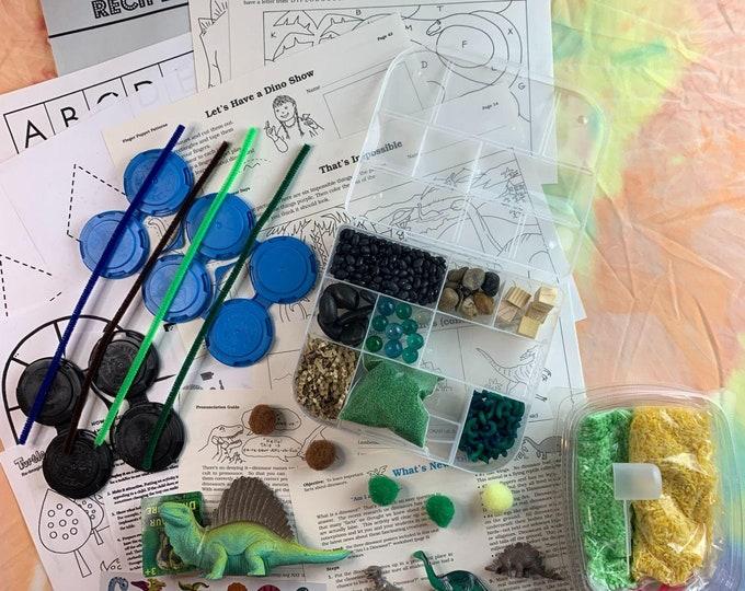 Dimetrodonte Dinosaur Sensory Play in a Bag