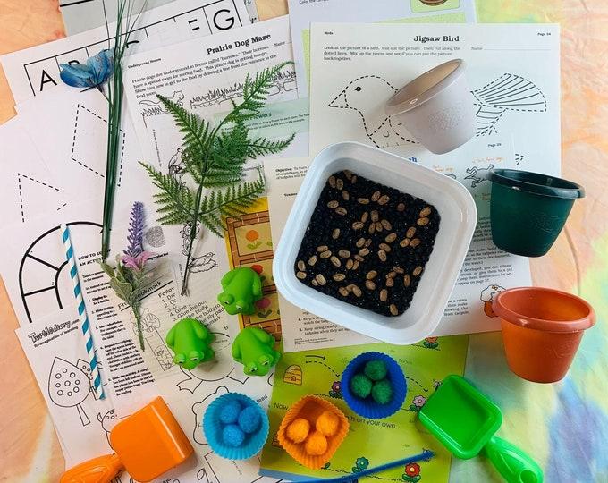 Three Little Frogs Orange Sensory Play in a Bag & Kit