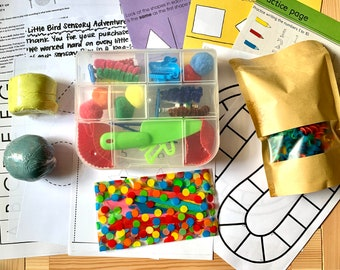 Rainbow Sensory with Play Dough Kit / Sensory Play / Montessori
