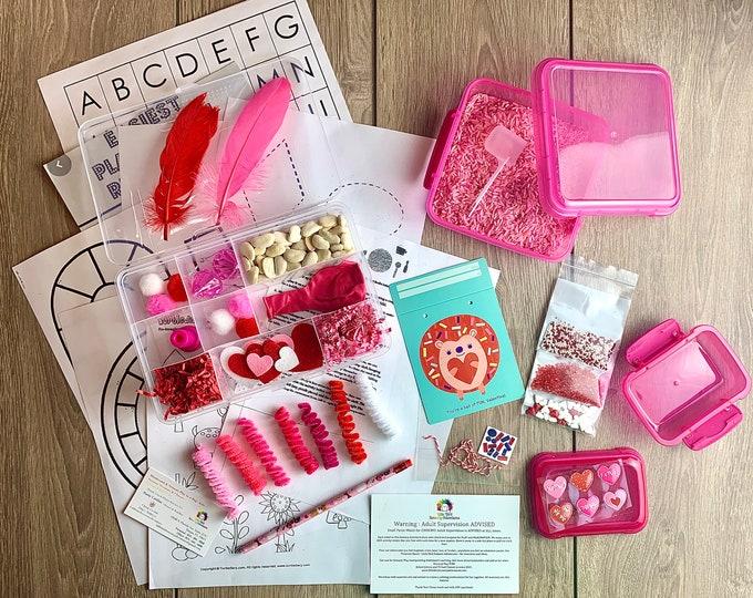Valentines Sensory Play in a Bag & Kit / Sensory Play / Montessori