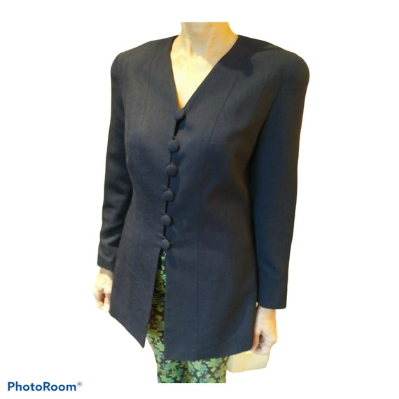80's Navy Blue Lilli Ann Fitted Jacket