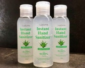3 x 100ml Hand Sanitiser Gel - Aloe Vera Scent - Antibacterial Gel - 75 Percent - Alcohol Kills 99.9 Germs