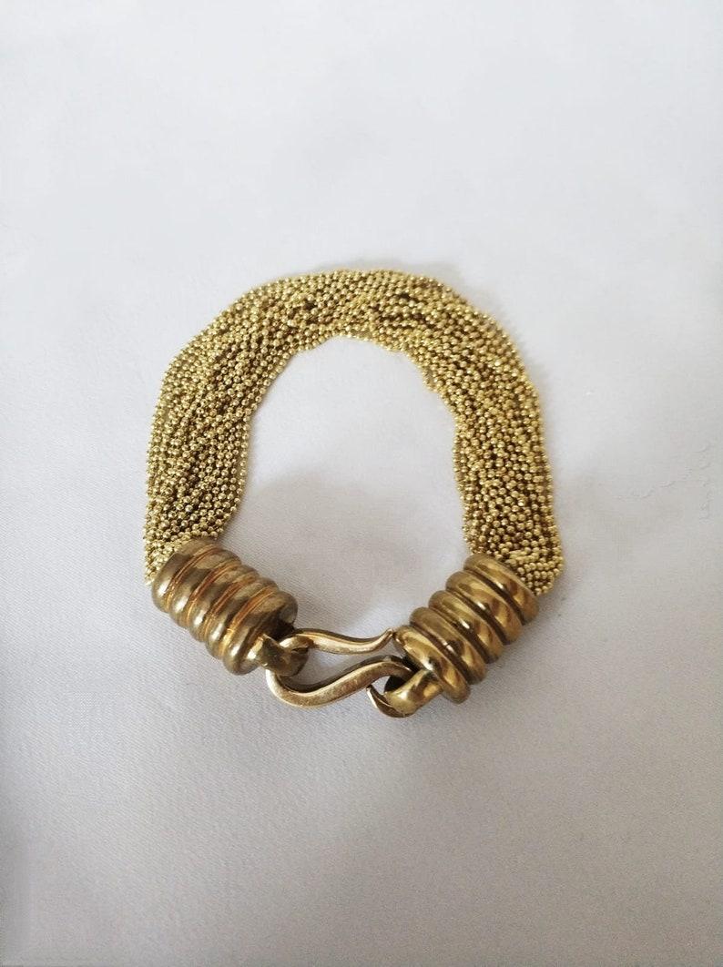 Multi Chain Bracelet for Women Brass Bracelet Handmade and Unique Jewelry