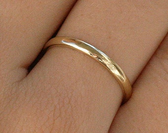 solid gold ring 14K-18K – gold band ring – plain wedding ring - classic band ring – engagement ring – friendship ring