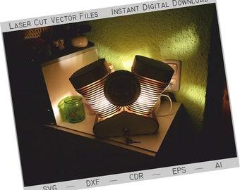 Lunettes de soleil mode coupe vent Modèle 3D gratuit .Dxf