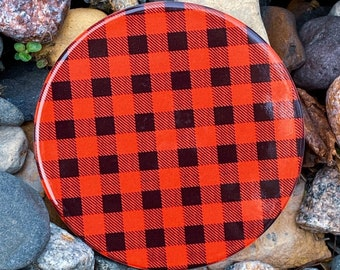 Red and Black Plaid Inspired Coasters | One-of-a-kind