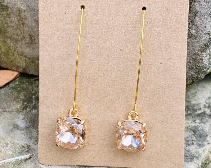 Peach Signature Glass Charm Earrings (inspired by Dear Heart)