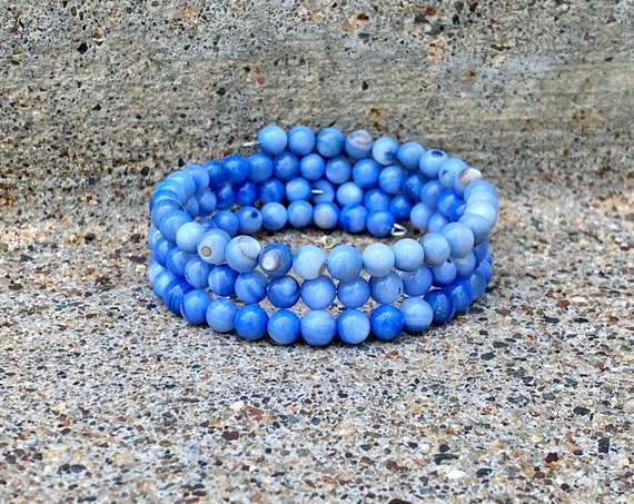 Light Sapphire Shell Tiered Bracelet