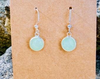 Mint Green Faceted Charm Earrings (10 mm) (inspired by Dear Heart)