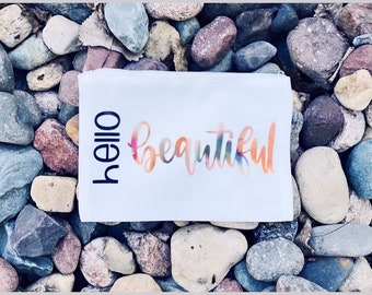 Hello Beautiful   Cosmetic Bag   Organizer Bag