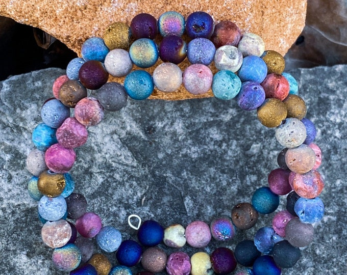 Multicolor Quartz Tiered Bracelet | One-of-a-kind (inspired by Dear Heart)