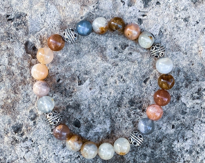 Beaded Sunstone Bracelet (inspired by Dear Heart)