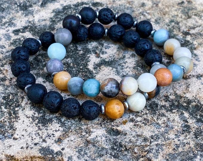 Amazonite Lava Stone Bracelet (inspired by Dear Heart)