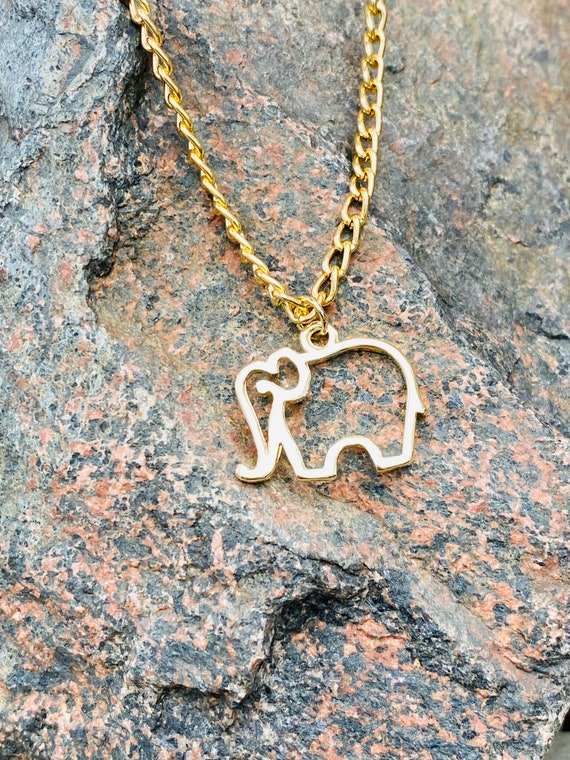 14Kt Gold-Filled Elephant Charm Necklace