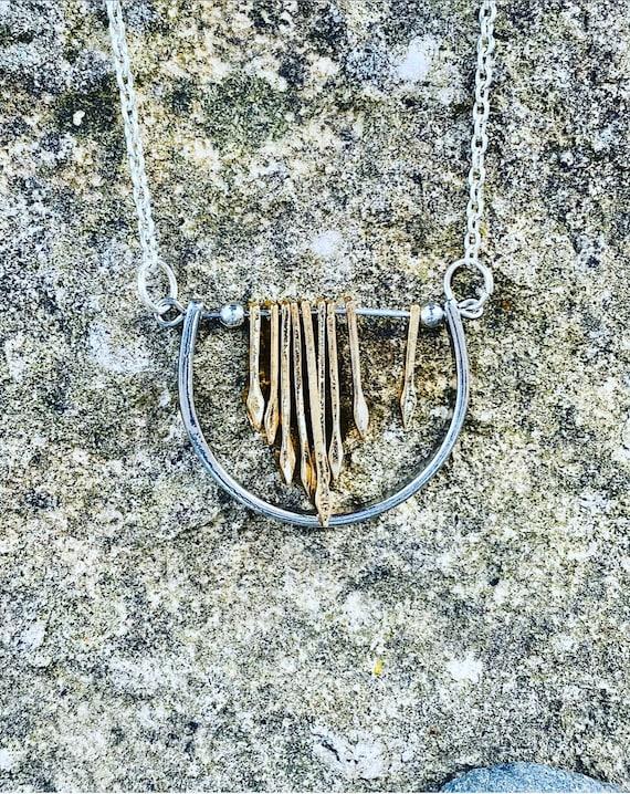 Half Circle Pendant Necklace