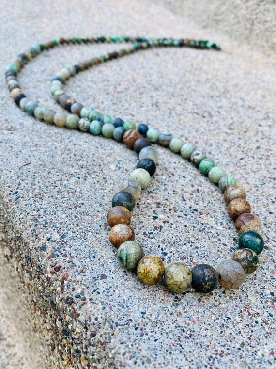 Earth Tone Agate Stone Necklace