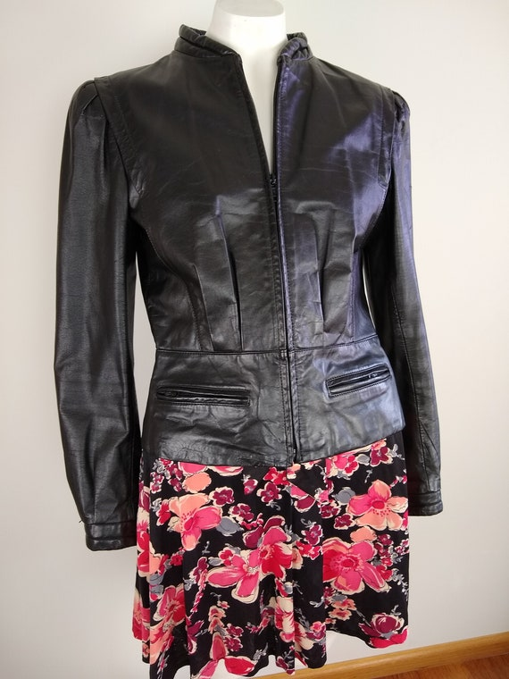 1980s women's leather jacket