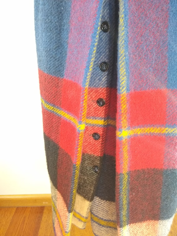 Early 1970s Daniel Hechter Paris Red Plaid Wool M… - image 6