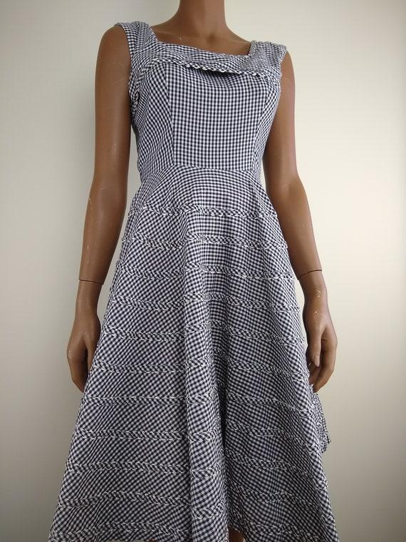 Lovely 1940s/1950s Gingham Cotton Dress