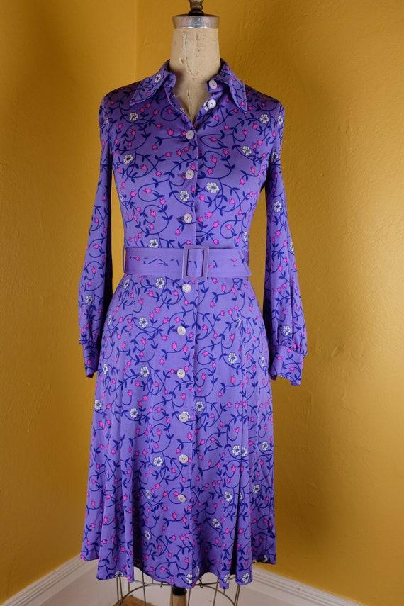 1970s Beautiful Hanae Mori Shirtdress