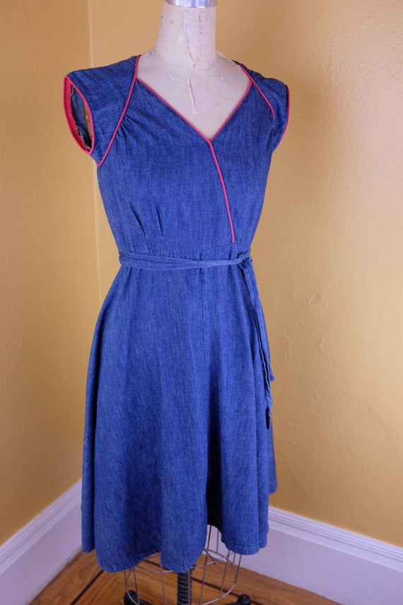 1970s/80s Denim Wrap Dress
