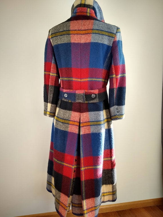 Early 1970s Daniel Hechter Paris Red Plaid Wool M… - image 5