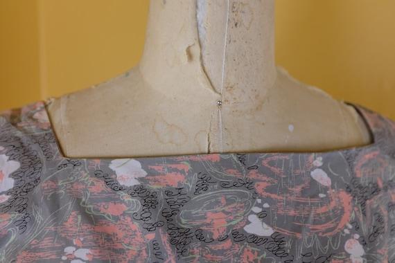1940s Cotton Print Dress - image 5