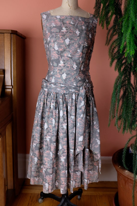 1940s Cotton Print Dress