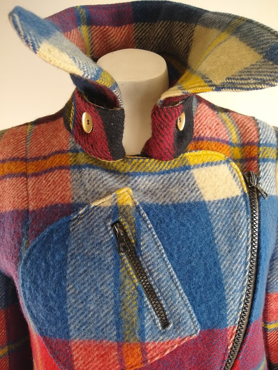 Early 1970s Daniel Hechter Paris Red Plaid Wool M… - image 3