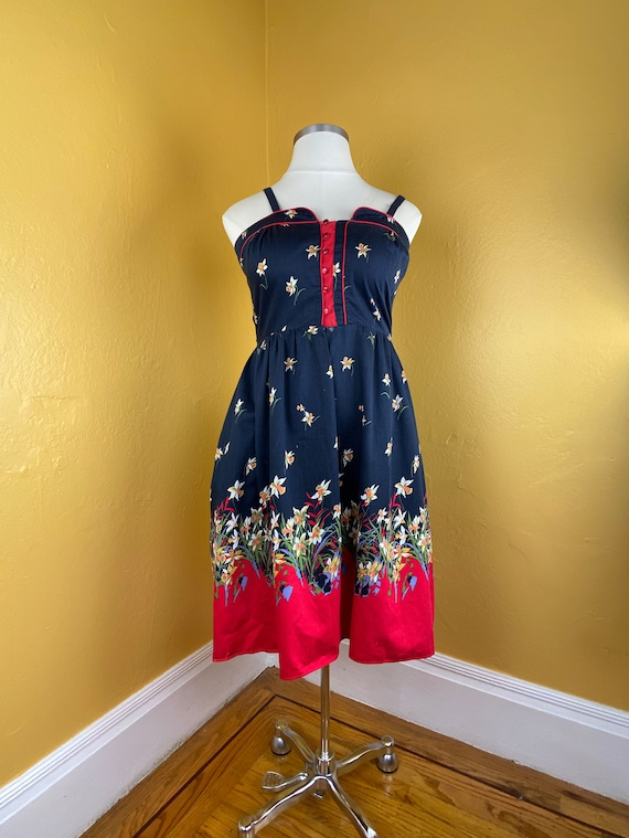 1970s Floral Sundress - large