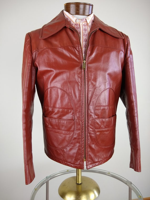 1970s/80s Leather Jacket, size M
